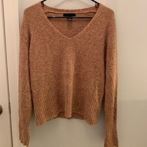 The Limited  brown v-neck sweater • large